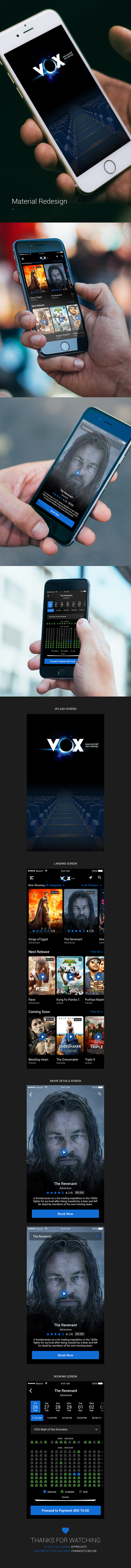 Vox Cinemas iOS App - Concept Redesign